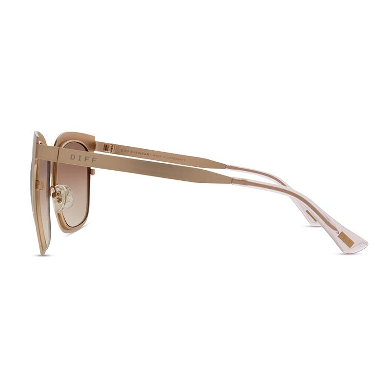 DIFF Eyewear Lauren Akins Ella Rose Gold Sunglasses