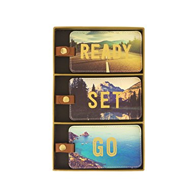 Luggage Tags - Set of 3 - Ready, Set, Go!