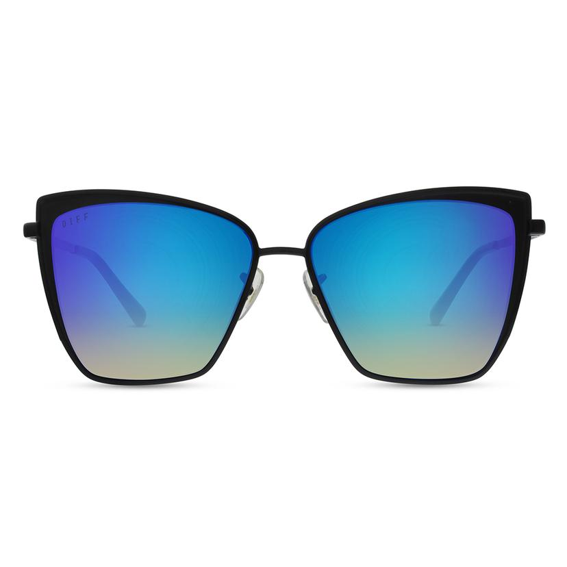 DIFF Eyewear Becky Sunglasses - Black/Blue