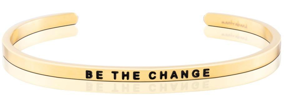 Be The Change Mantraband - Gold