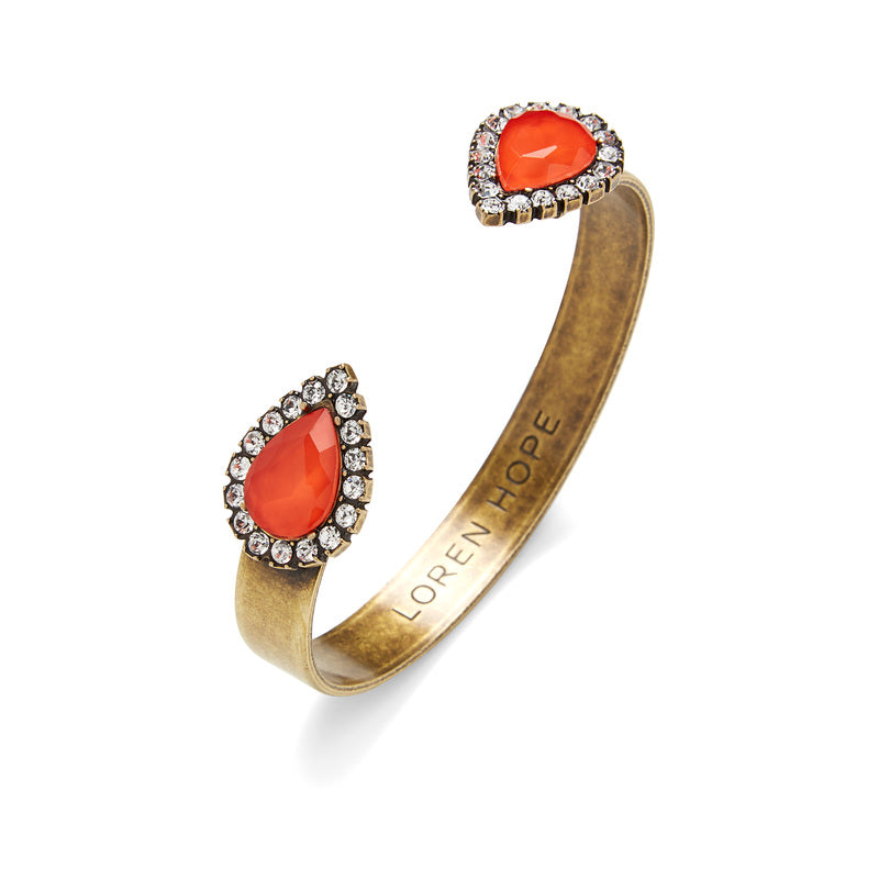 Loren Hope Small Sarra Cuff - Paradise Red