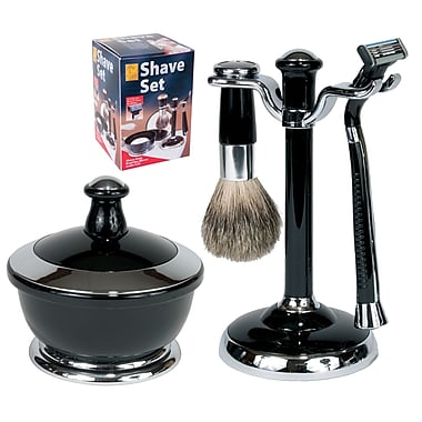 Men's Shave Set - Black and Chrome