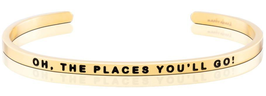 Oh the Places You'll Go Mantraband - Gold