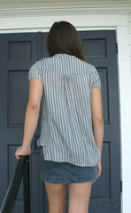 Striped Crossbody Top