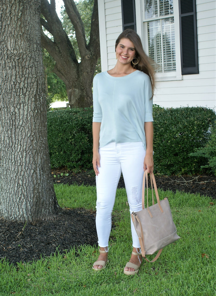 Jersey Knit Boxy Top