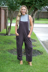 Overall Style Ultra Suede Jumpsuit