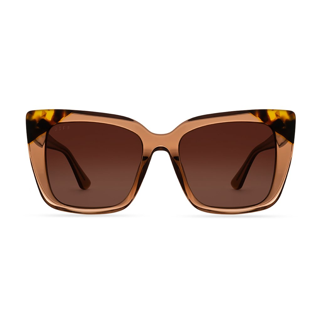 DIFF Eyewear Lizzy Dunes Crystal, Brown