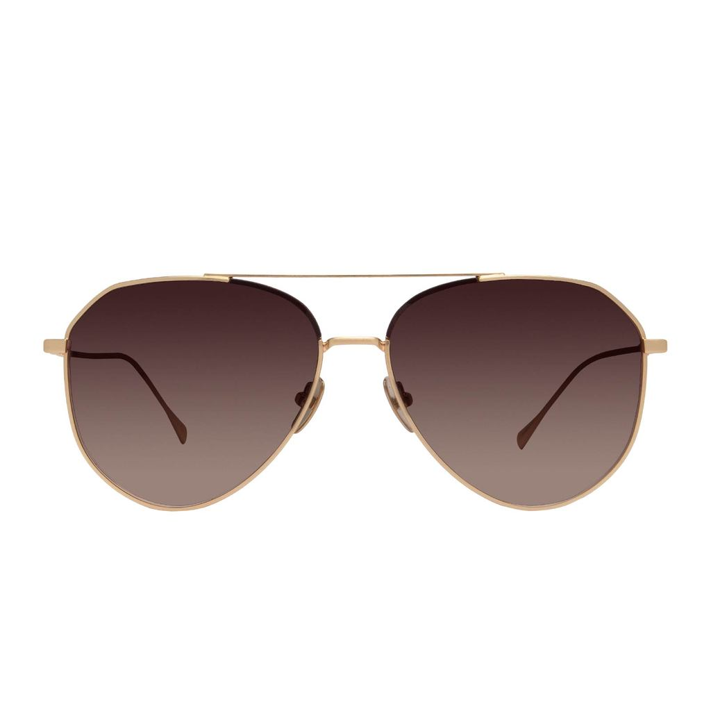 DIFF Eyewear Dash Brushed Gold, Coffee