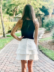 Mink Pink Litsa Skirt in Off White