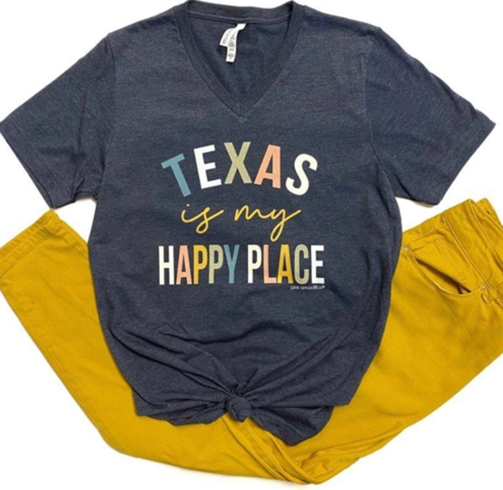 Pink Armadillo Texas is My Happy Tee