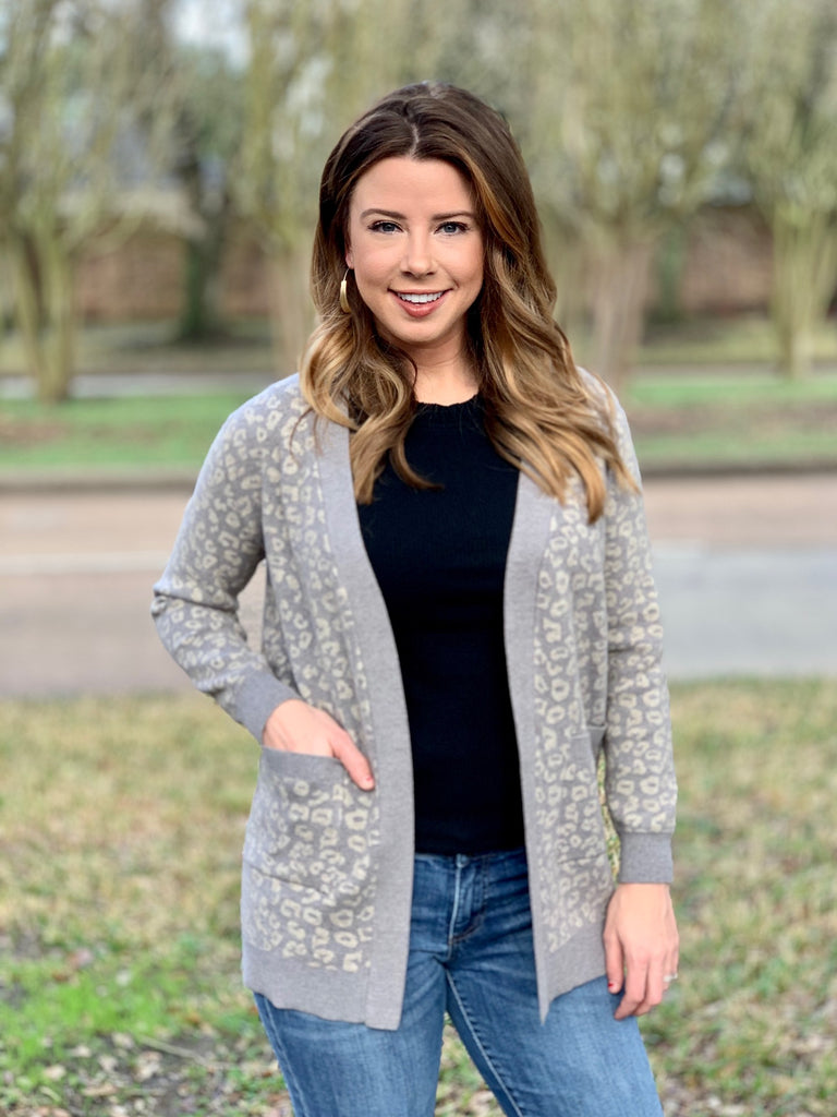 Cheyenne Heather Grey Cardigan