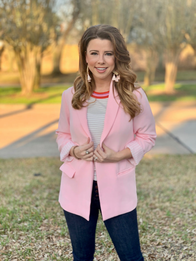 Cupcakes & Cashmere Siri Strawberry Cream Suit Jacket