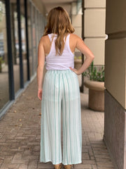 Mink Pink Wide Leg Pants in Sage`