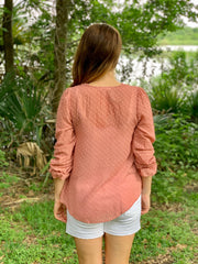 The Ava Blouse - Available in Mauve or Ivory