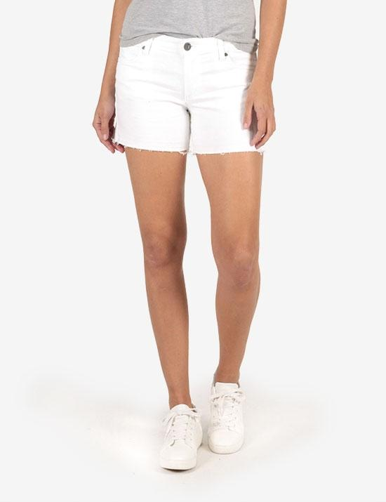 Kut Andrea Shorts in Optic White