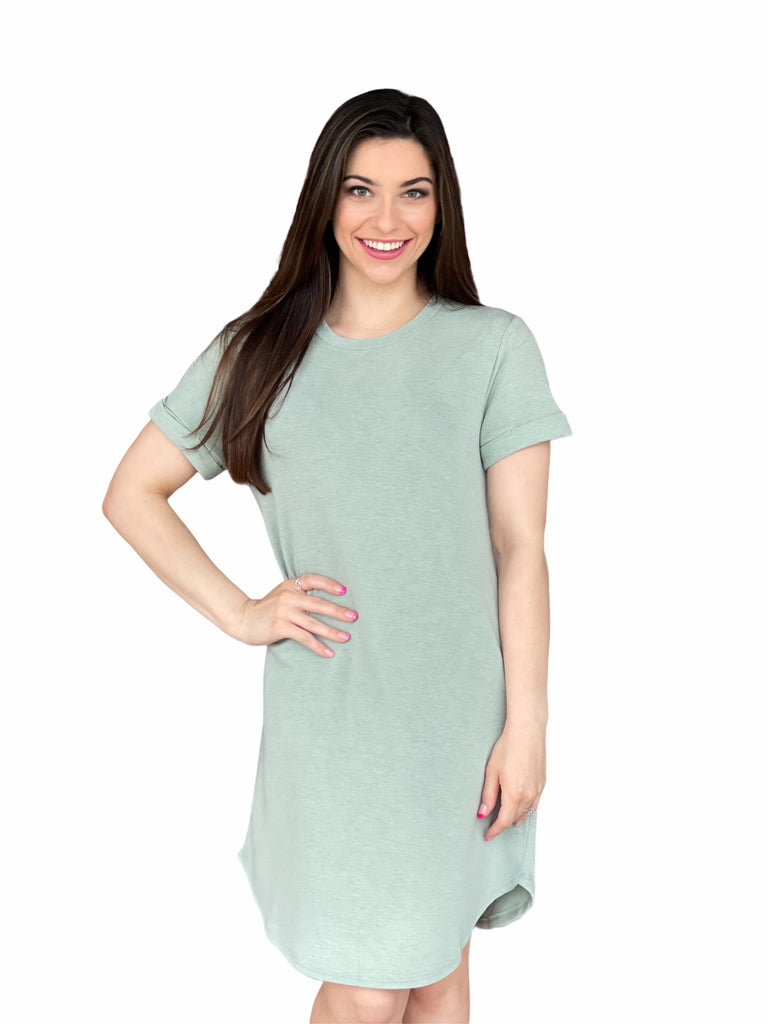 The Ava Dress in Sage