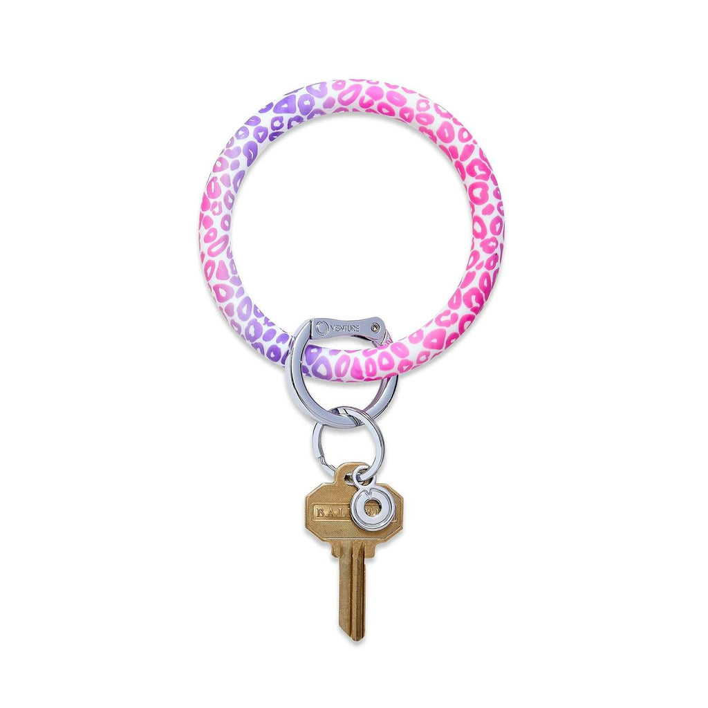 Big O Key Ring Silicone-Pink Cheetah