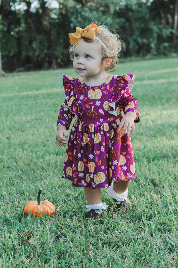 Mila & Rose Pumpkin Patch Twirl Dress