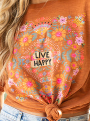 Live Happy Boyfriend Tee