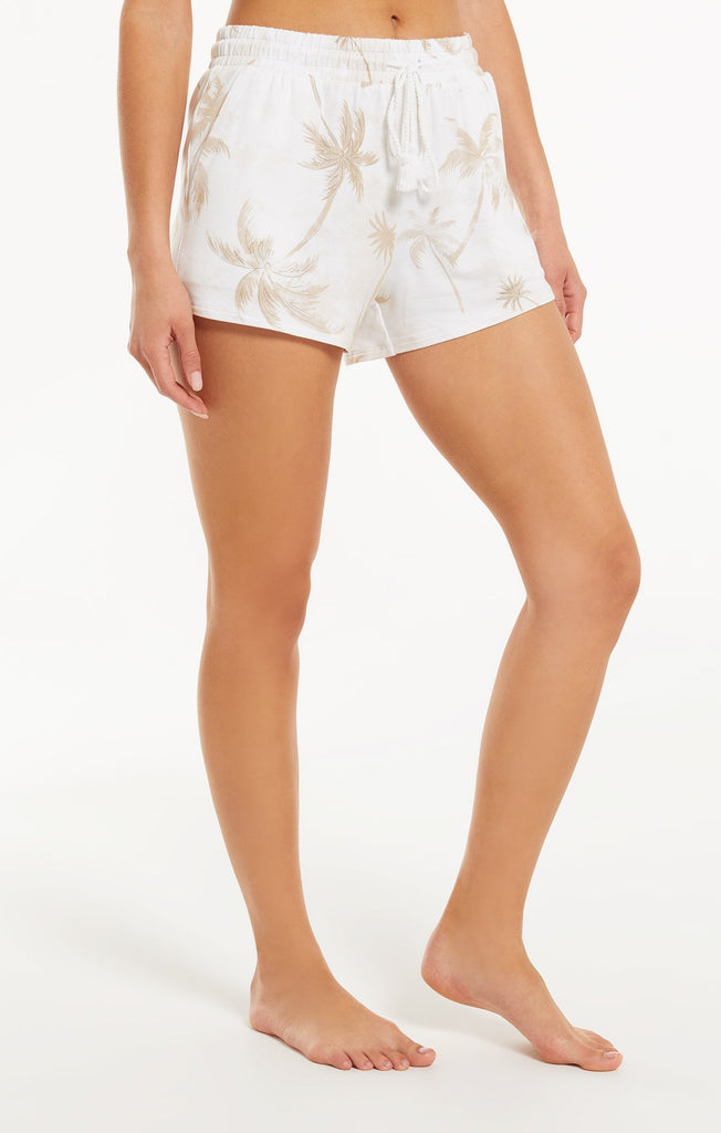 Z Supply Cruise Palm Short - White