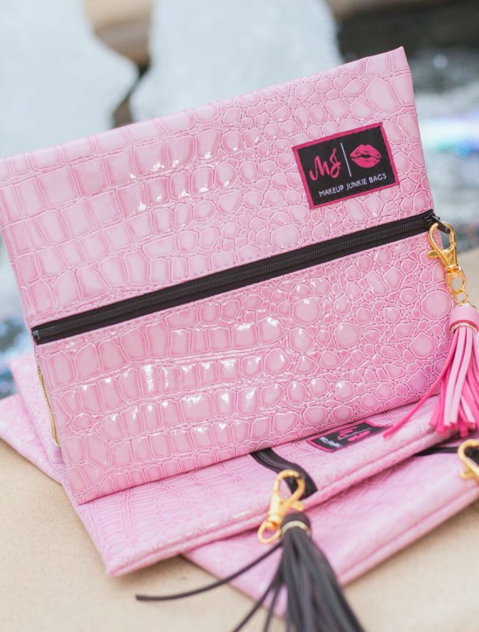 Makeup Junkie Small Pink Bag