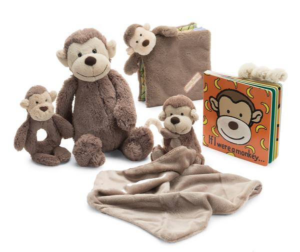 Jellycat If I Were a Monkey Book and Plush Animal Set
