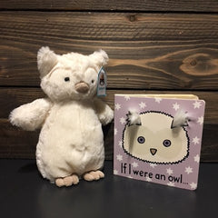 Jellycat If I Were an Owl Book and Plush Animal Set