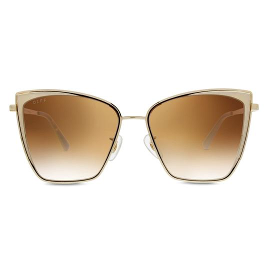 Diff Eyewear Becky Sunglasses - Gold/Brown