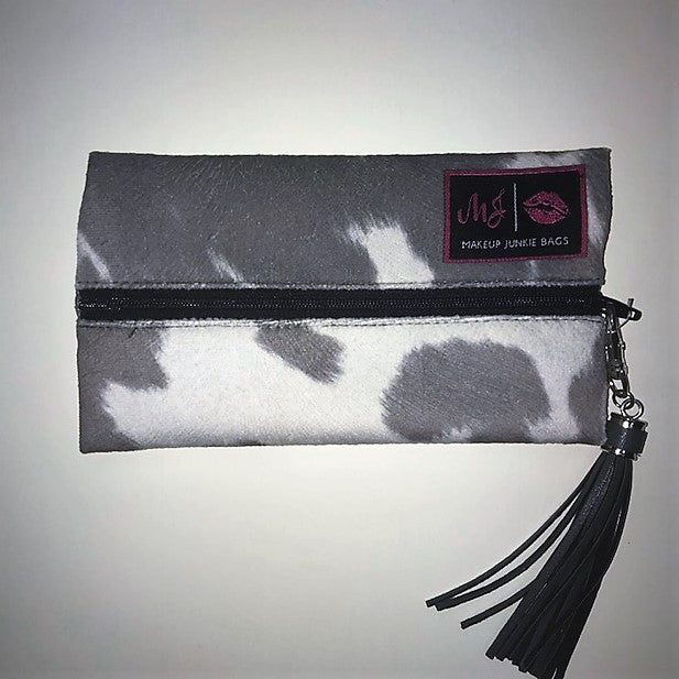 Makeup Junkie Medium Grey Cowhide Bag