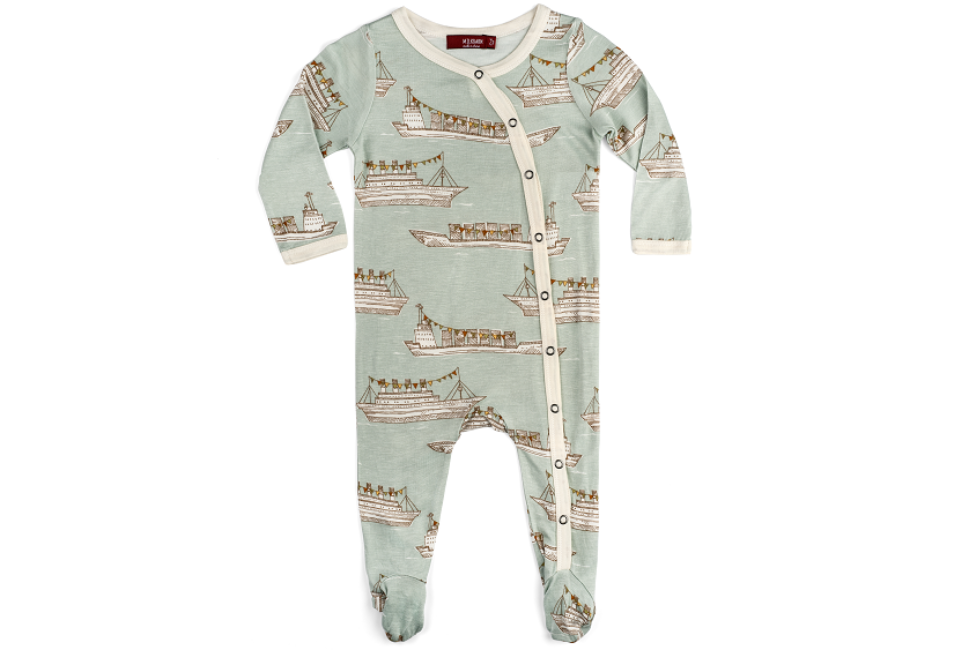 Bamboo Footed Romper - Ships