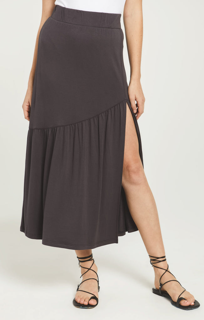 Z Supply Calissa Midi Skirt-Black