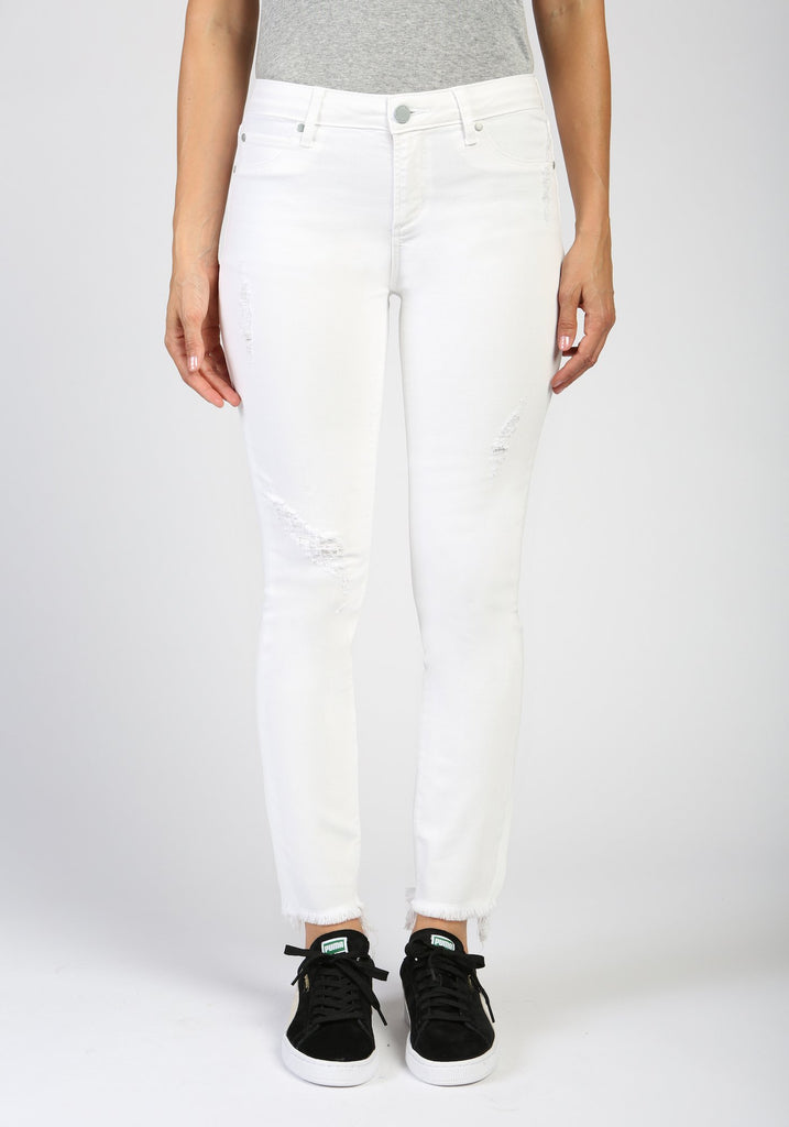 Articles of Society Carly Frayed Hem Jeans in Bahama
