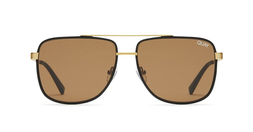 Quay Australia Modern Times Sunglasses in Bronze Black with Brown Lenses