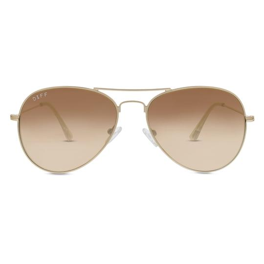 Diff Eyewear Cruz Sunglasses- Matte Gold/Brown