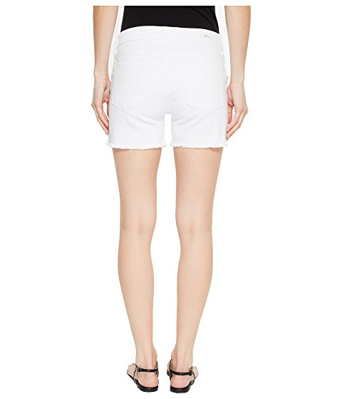 Kut Gidget Fray Shorts in Optic White