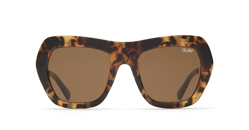 Quay Australia Common Love Sunglasses in Tortoise with Brown Lenses