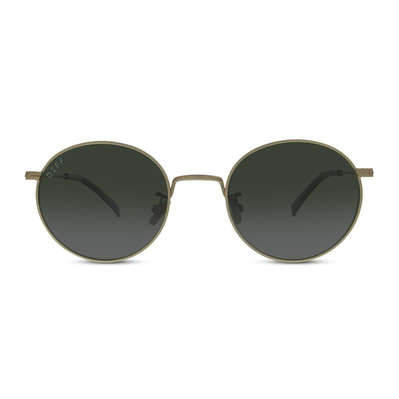 DIFF Eyewear Daisy Antique Gold- Green Lens
