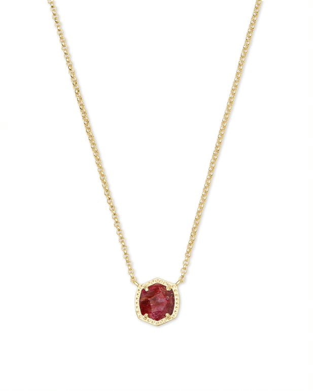 Kendra Scott Davie Short Pendant Necklace Available in 3 Colors