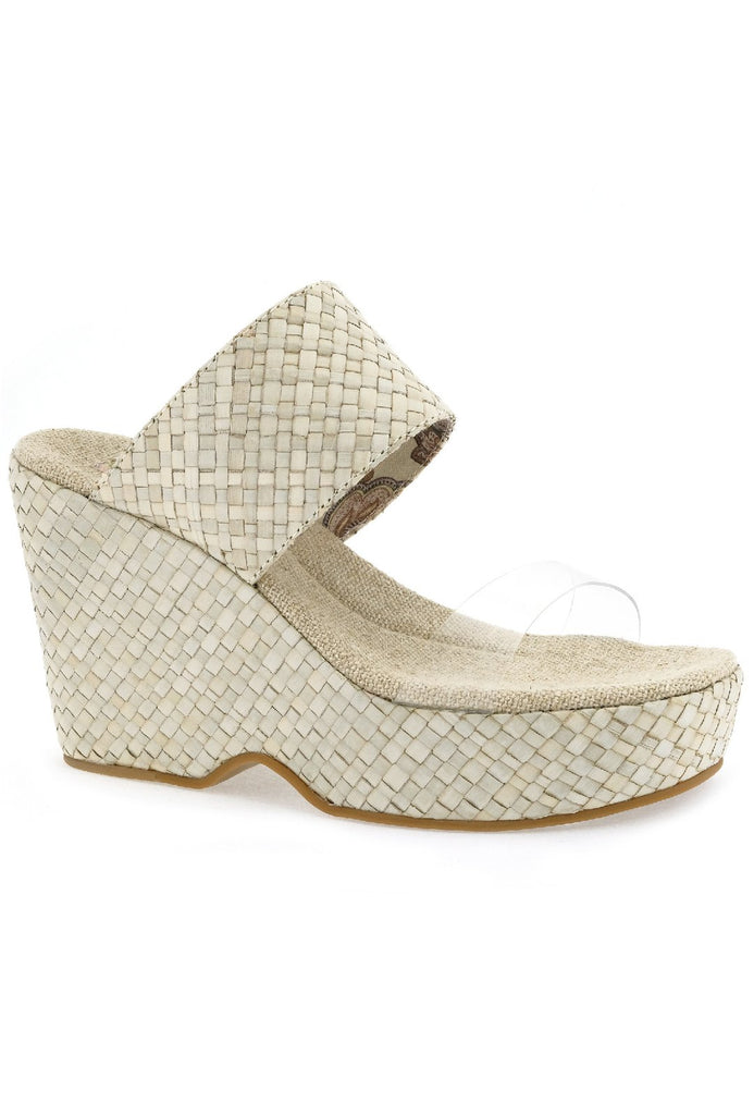 Dusk Vegan Ecru/Clear Wedge