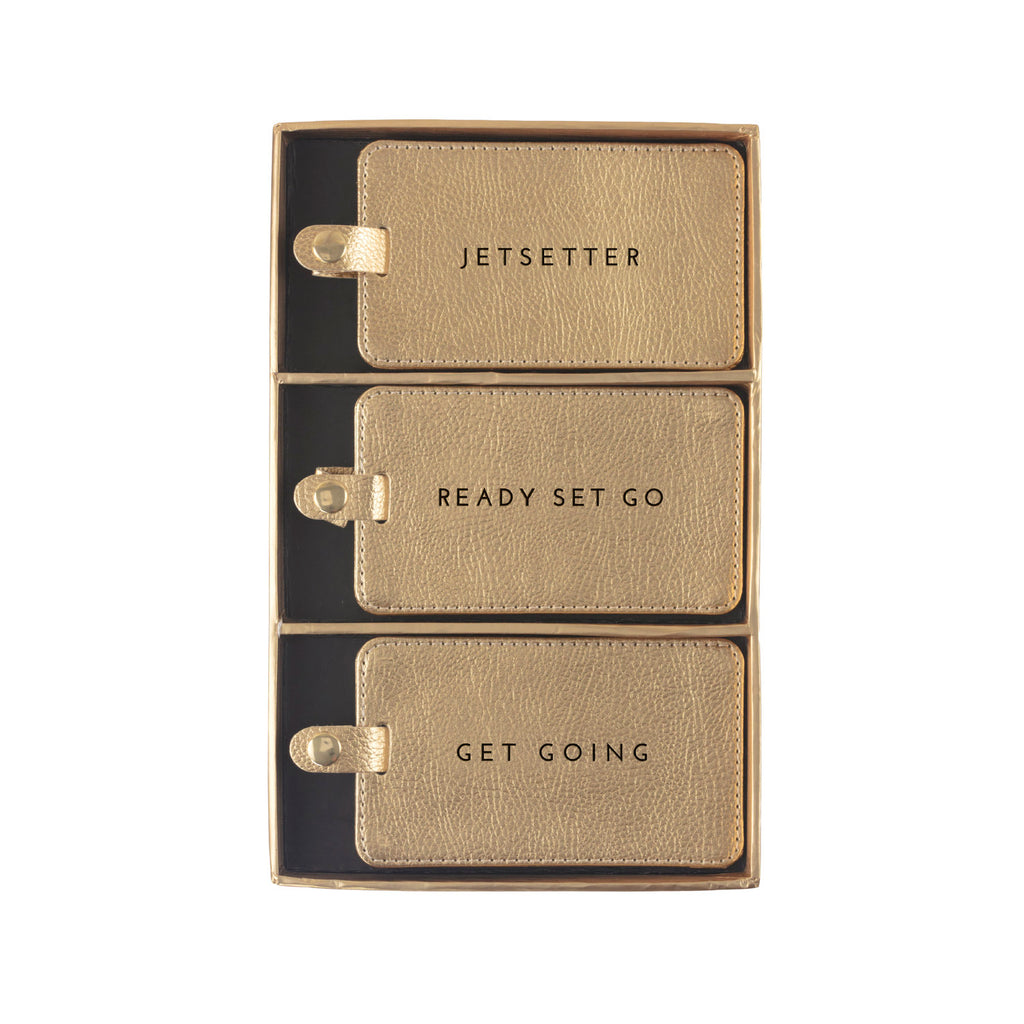 Luggage Tags - Set of 3, Jetsetter