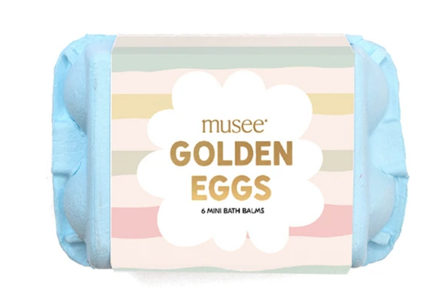 Musee Bath Golden Eggs - Blue