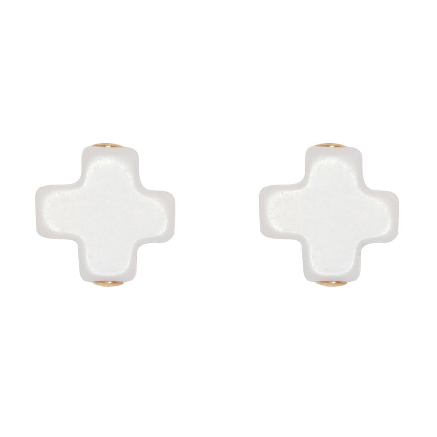 Enewton Designs Signature Cross Stud Off White