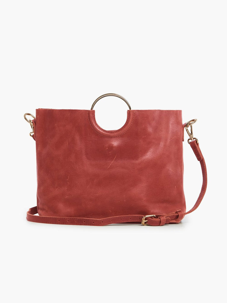 ABLE Fozi Handbag in Brick Red