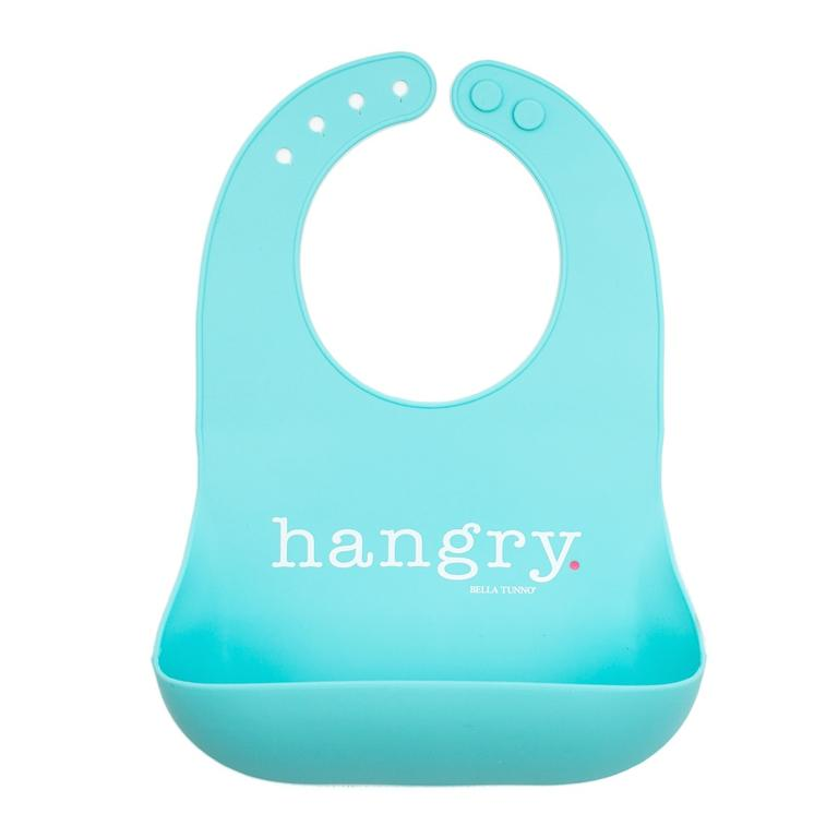 Bella Tunno Hangry Wonder Bib in Light Caribbean Blue