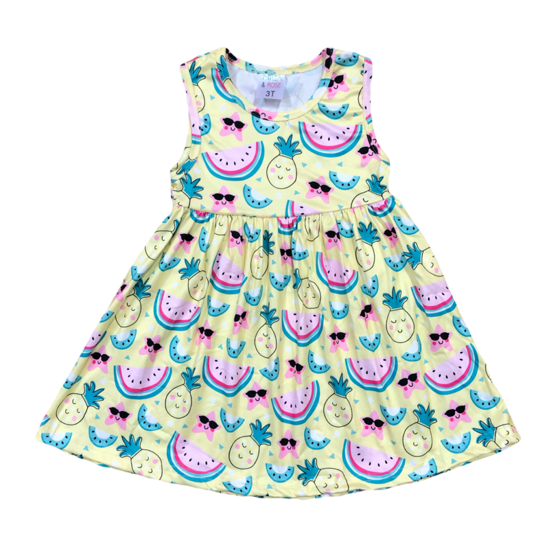 Happy Fruit Tank Dress
