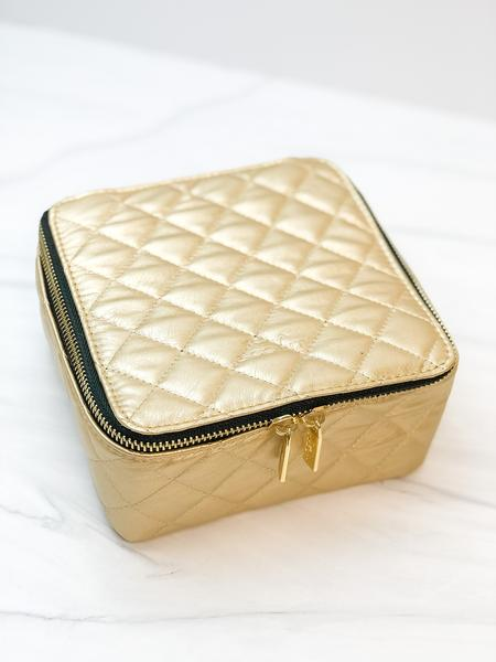 "Scout Bags ""Quilted Gold"" Hidden Gem Jewelry Case"