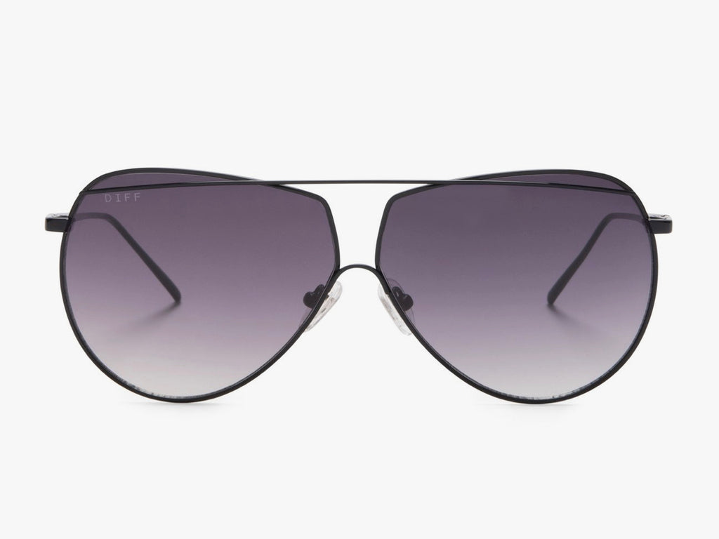 Diff Maeve Black, Grey Sunglasses