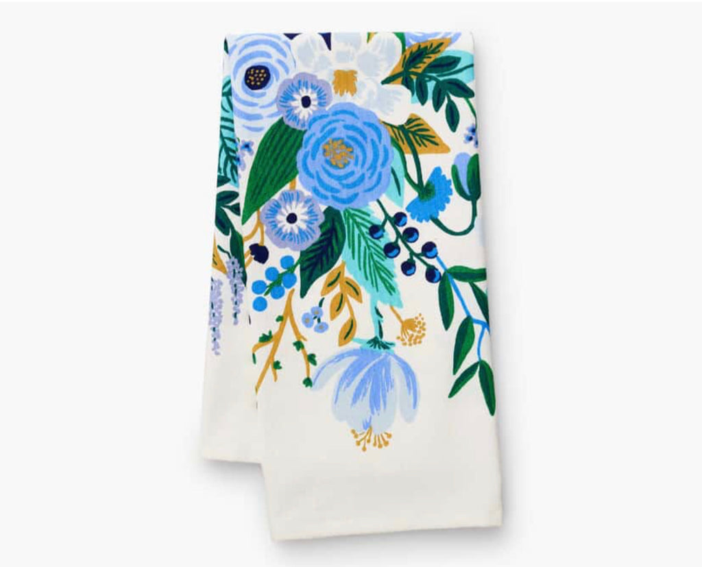 Rifle Paper Co. Garden Party Blue Tea Towel