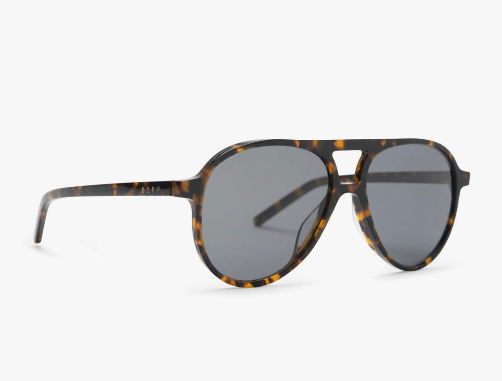 Diff Jett Shadow Tortoise Grey Polarized Sunglasses