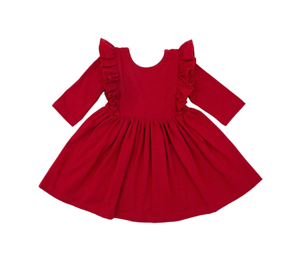Mila & Rose Scarlet Ruffle Twirl Dress